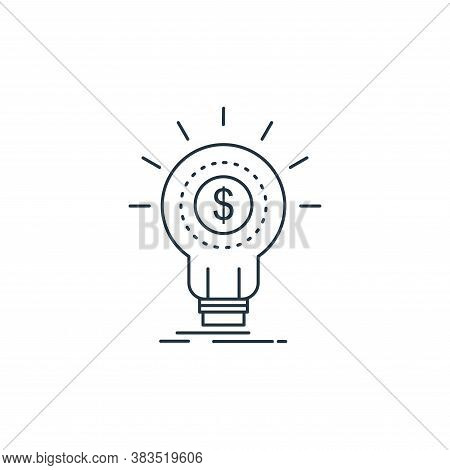 idea icon isolated on white background from analytic investment and balanced scorecard collection. i