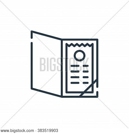 bill icon isolated on white background from restaurant collection. bill icon trendy and modern bill
