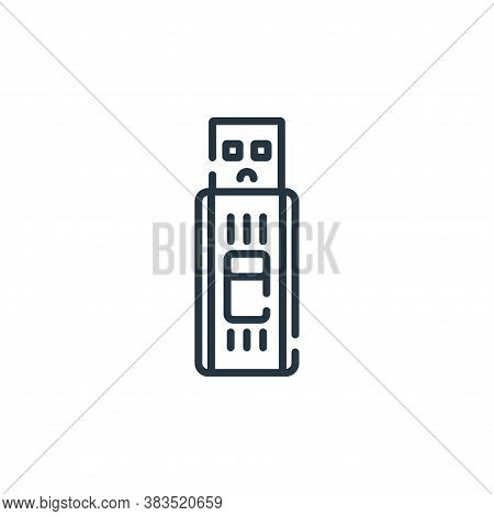 thumb drive icon isolated on white background from hardware collection. thumb drive icon trendy and