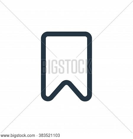 bookmark icon isolated on white background from interface collection. bookmark icon trendy and moder