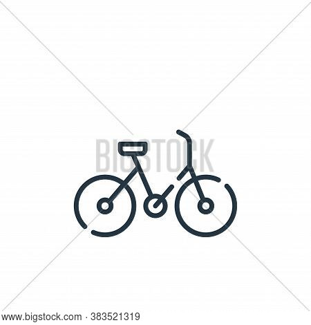 bicycle icon isolated on white background from office collection. bicycle icon trendy and modern bic