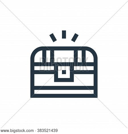chest icon isolated on white background from fairytale collection. chest icon trendy and modern ches