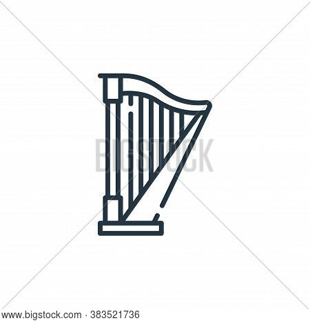 harp icon isolated on white background from fairytale collection. harp icon trendy and modern harp s