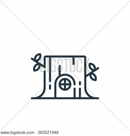 stump house icon isolated on white background from fairytale collection. stump house icon trendy and