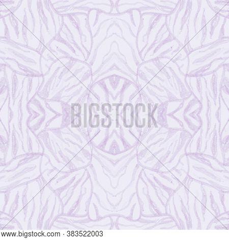 Pastel African Print. Watercolor Safari Fur Pattern. Pink Fashion Jungle Background. Wild Stripes De
