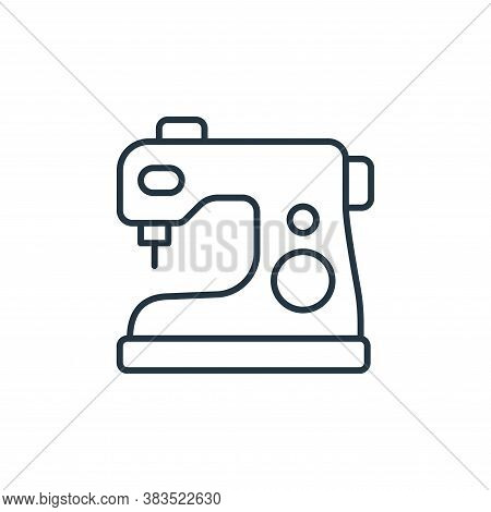 sewing machine icon isolated on white background from sewing collection. sewing machine icon trendy