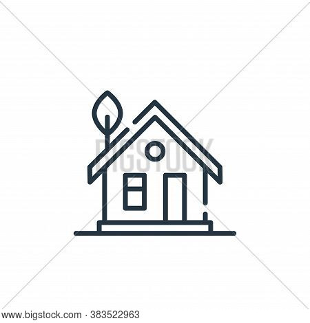 eco home icon isolated on white background from mother earth day collection. eco home icon trendy an