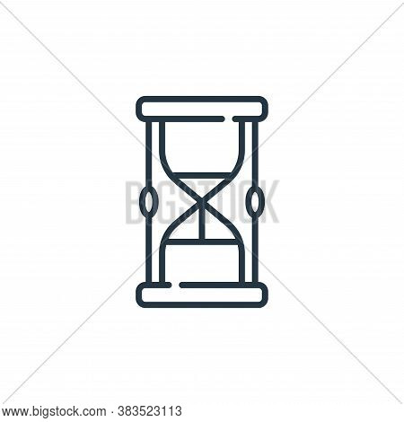 hourglass icon isolated on white background from fairytale collection. hourglass icon trendy and mod