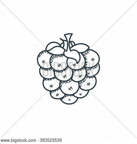 grapes icon isolated on white background from food hand drawn collection. grapes icon trendy and mod