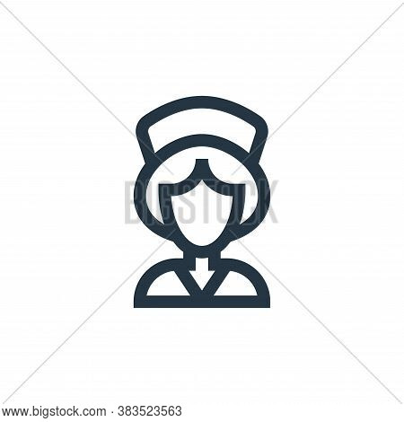 nurse icon isolated on white background from nursing collection. nurse icon trendy and modern nurse