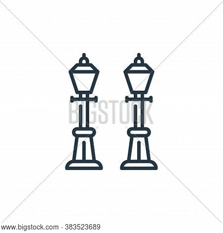 street lamp icon isolated on white background from holland collection. street lamp icon trendy and m