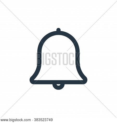 bell icon isolated on white background from interface collection. bell icon trendy and modern bell s