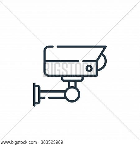 cctv icon isolated on white background from office collection. cctv icon trendy and modern cctv symb
