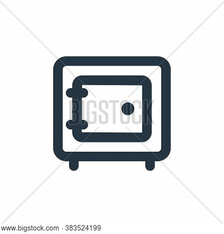 safe deposit icon isolated on white background from business collection. safe deposit icon trendy an