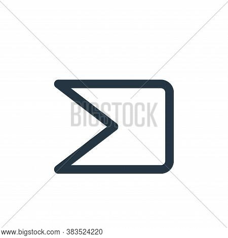 important icon isolated on white background from email ui collection. important icon trendy and mode