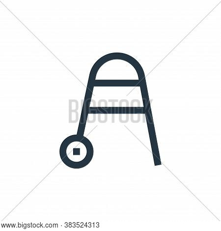 walker icon isolated on white background from nursing collection. walker icon trendy and modern walk