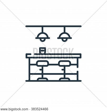 bar icon isolated on white background from restaurant collection. bar icon trendy and modern bar sym