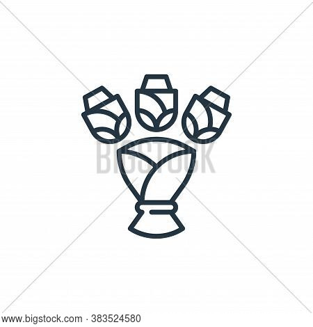 bouquet icon isolated on white background from celebration collection. bouquet icon trendy and moder