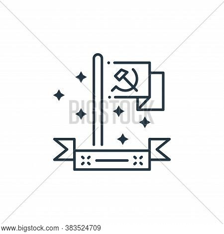 communist icon isolated on white background from labor day collection. communist icon trendy and mod