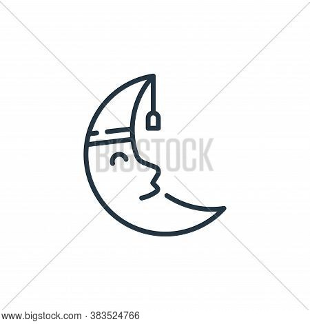 moon icon isolated on white background from fairytale collection. moon icon trendy and modern moon s