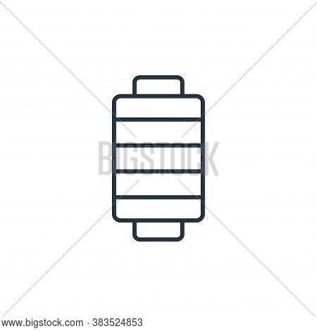 thread icon isolated on white background from sewing collection. thread icon trendy and modern threa