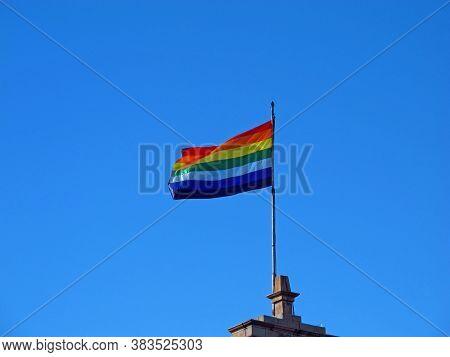 The Flag Of Inka Cusco, Peru