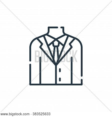 suit icon isolated on white background from office collection. suit icon trendy and modern suit symb