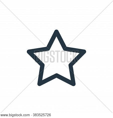 favorite icon isolated on white background from email ui collection. favorite icon trendy and modern