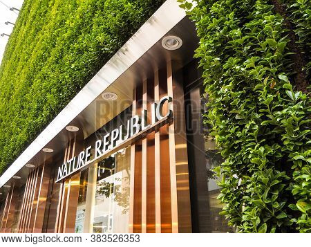 October 2018 - Seoul, South Korea: The Flagship Store Of The South Korean Skincare And Cosmetics Bra