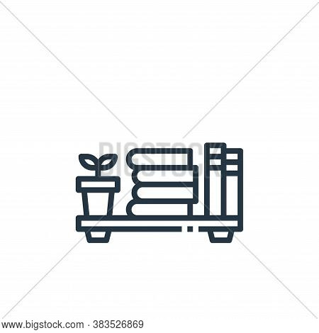 book shelf icon isolated on white background from furniture collection. book shelf icon trendy and m