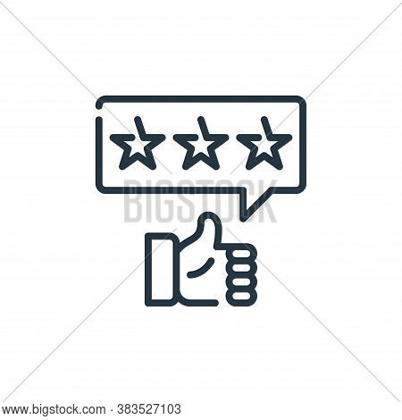 rating icon isolated on white background from seo and marketing collection. rating icon trendy and m