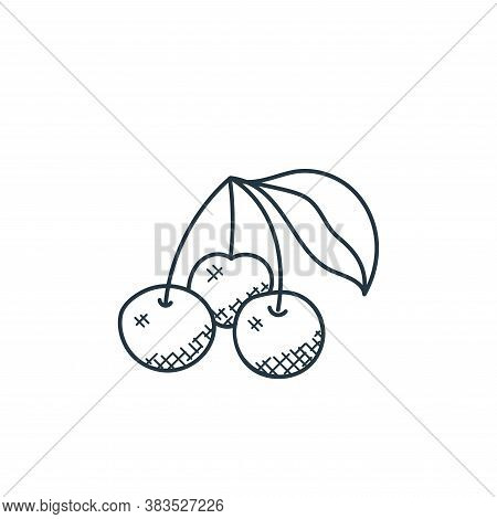cherries icon isolated on white background from food hand drawn collection. cherries icon trendy and