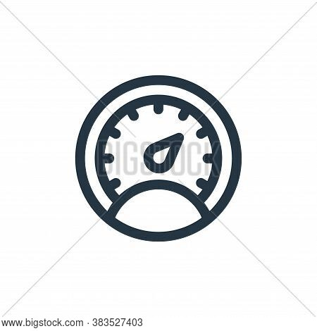 gauge icon isolated on white background from public transportation collection. gauge icon trendy and