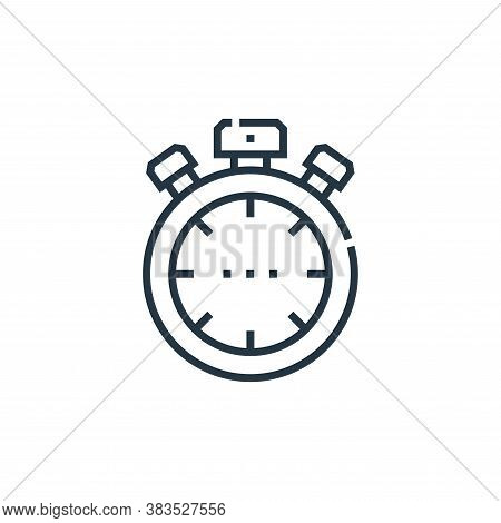 stopwatch icon isolated on white background from driving school collection. stopwatch icon trendy an