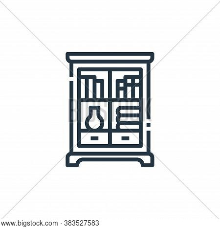 bookcase icon isolated on white background from furniture collection. bookcase icon trendy and moder