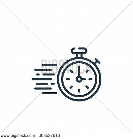 stopwatch icon isolated on white background from office collection. stopwatch icon trendy and modern
