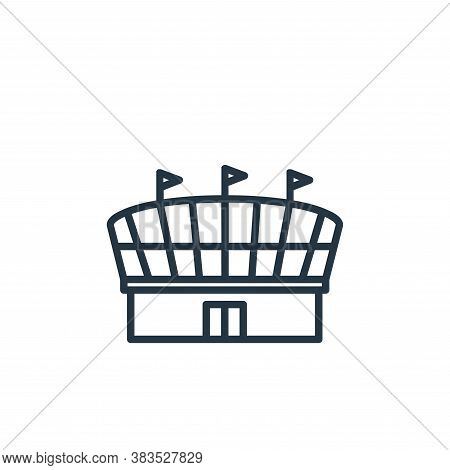 stadium icon isolated on white background from building collection. stadium icon trendy and modern s