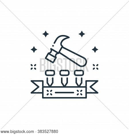 hammer icon isolated on white background from labor day collection. hammer icon trendy and modern ha