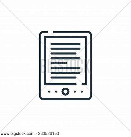 ebook icon isolated on white background from books and literature collection. ebook icon trendy and