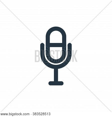 microphone icon isolated on white background from interface collection. microphone icon trendy and m