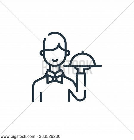 waiter icon isolated on white background from restaurant collection. waiter icon trendy and modern w
