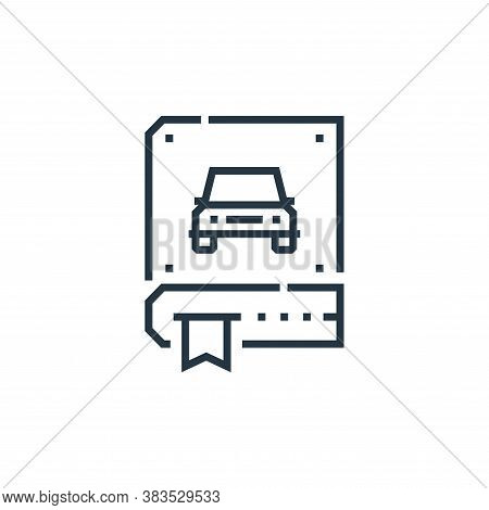 driving icon isolated on white background from driving school collection. driving icon trendy and mo