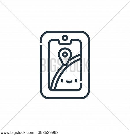 gps icon isolated on white background from adventure collection. gps icon trendy and modern gps symb