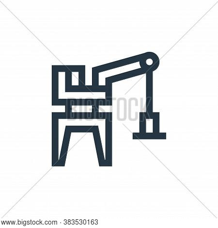 harbor crane icon isolated on white background from machinery collection. harbor crane icon trendy a