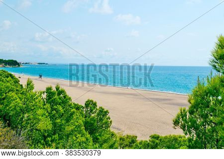 a view over the Torn Beach in Hospitalet del Infant, Spain