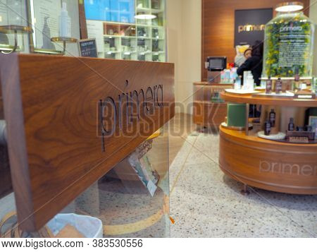 March 2019 - Seoul, South Korea: Flagship Store Of The South Korean Luxury Skincare Brand Primera In