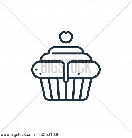 cupcake icon isolated on white background from celebration collection. cupcake icon trendy and moder