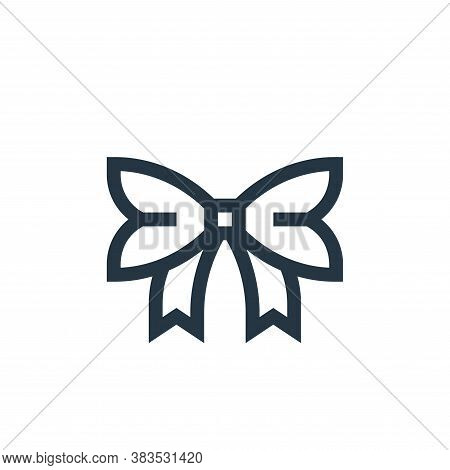bow icon isolated on white background from handcrafts collection. bow icon trendy and modern bow sym