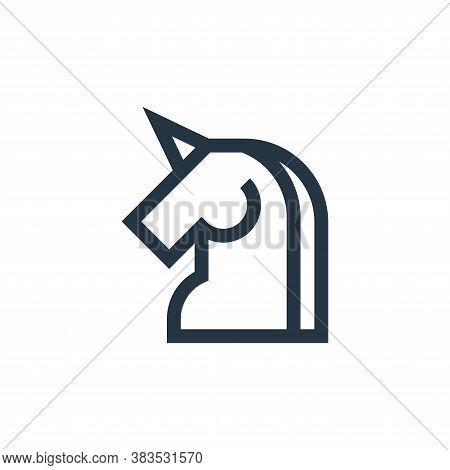 unicorn icon isolated on white background from fairytale collection. unicorn icon trendy and modern