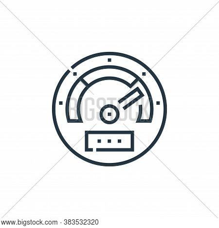 speedometer icon isolated on white background from driving school collection. speedometer icon trend